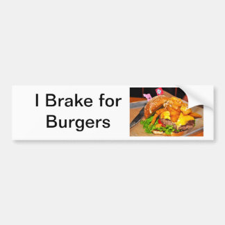 For the Burger Lover in Your LIfe Bumper Sticker
