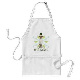 for the Cook Jack Russell Terrier Santa Dog Adult Apron
