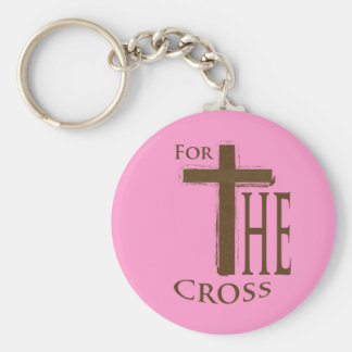For the Cross Basic Round Button Keychain