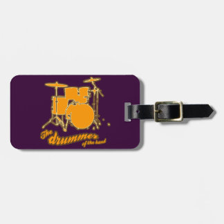 For the drummer luggage tag