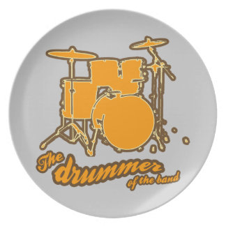 For the drummer melamine plate