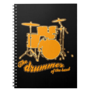 For the drummer spiral notebook