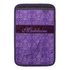 For the Feminine Fashionista Purple Cheetah MacBook Sleeve
