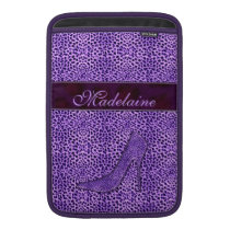 For the Feminine Fashionista Purple Cheetah MacBook Sleeve