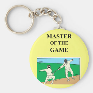 for the fencer basic round button keychain
