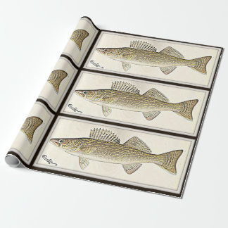 For the fisher - a walleye design wrapping paper