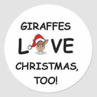 For the GIRAFFE collector for Christmas! Classic Round Sticker