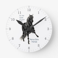 For the Glide of your Life Peruvian Horse Round Wallclock