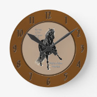 For the Glide of your Life Peruvian Horse Wall Clocks