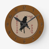 For the Glide of Your Life Peruvian Paso Wall Clocks