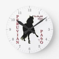 For the Glide of Your Life Peruvian Paso Round Wallclock