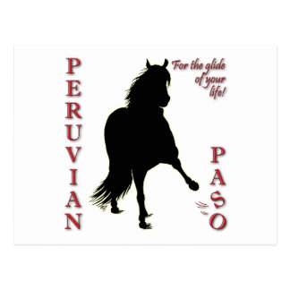 For the Glide of Your Life Peruvian Paso Postcard