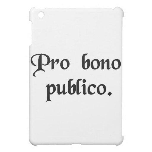 For the good of the public iPad mini case