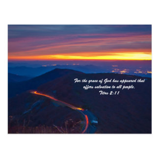 For the grace of God has appeared that offers salv Postcard