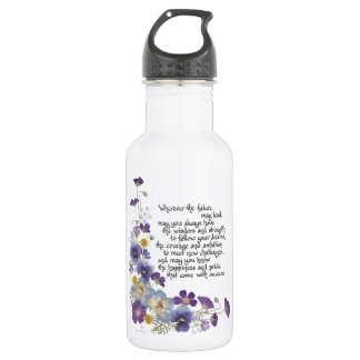 For the graduate stainless steel water bottle