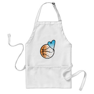 for the heart of.. BASKETBALL Adult Apron