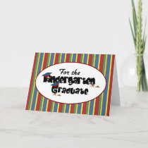 For the Kindergarten Graduate Congratulations Card