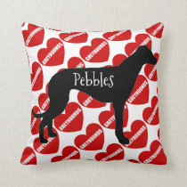 For the Love of a Greyhound Dog Throw Pillow