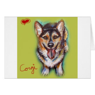 For the love of a Welsh Corgi Card