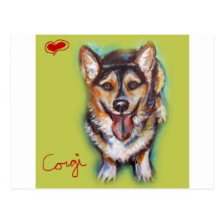 For the love of a Welsh Corgi Postcard