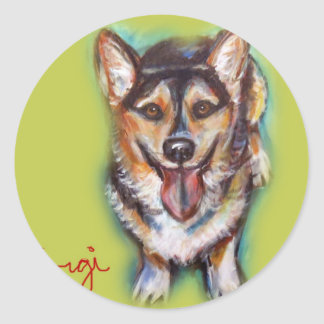 For the love of a Welsh Corgi Round Sticker