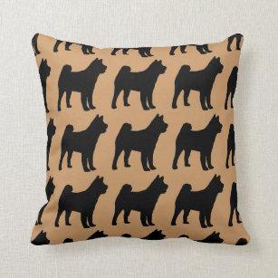 For the Love of Akitas Throw Pillow