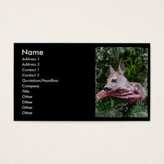 For the Love of Animals Business Card