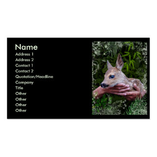 For the Love of Animals Business Card Template