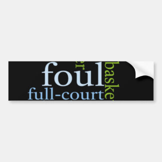 For the Love of Basketball Bumper Sticker