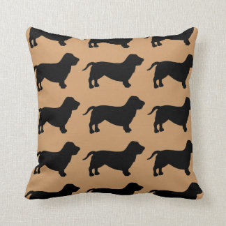 For the Love of Basset Hounds Throw Pillow