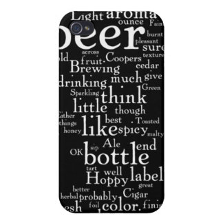 For the Love of Beer Word Cloud Covers For iPhone 4
