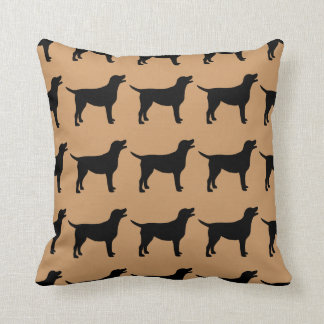 For the Love of Black Labs Throw Pillow