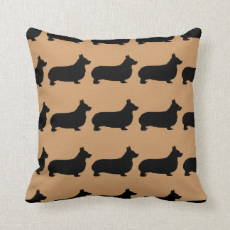 For the Love of Corgi Dogs Throw Pillow
