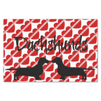 For The Love of Dachshund Dogs Tissue Paper
