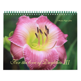 For the love of Daylilies III Calendar