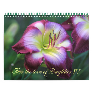 For the love of Daylilies IV Calendar