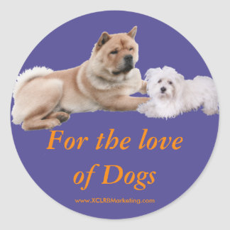 For the love of Dogs Sticker