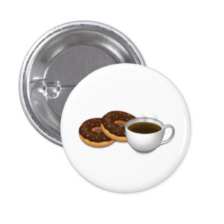 For the love of Donuts and Coffee! Pinback Button