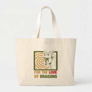 For The Love Of Dragons Large Tote Bag