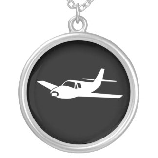 For the love of flying airplane necklace