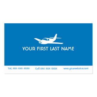 For the Love of Flying blue airplane symbol cards Business Card Templates