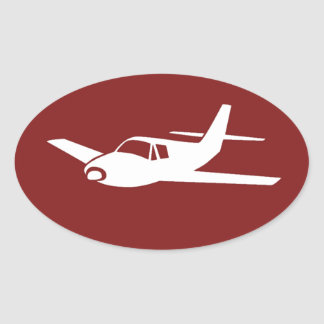 For the love of flying maroon airplane stickers