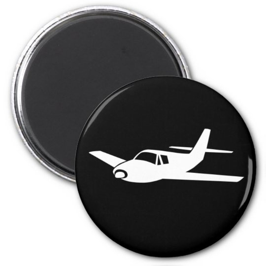 For the love of flying simple airplane magnet
