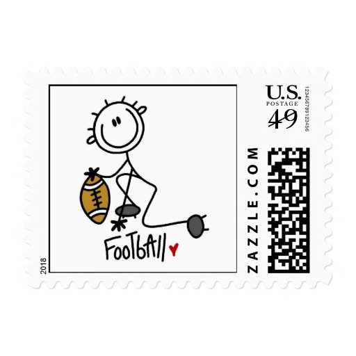 For the Love of Football Postage Stamps