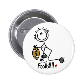 For the Love of Football Tshirts and Gifts Pinback Button