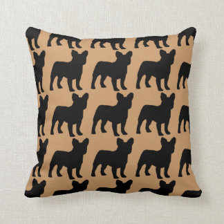 For the Love of French Bulldogs Throw Pillow
