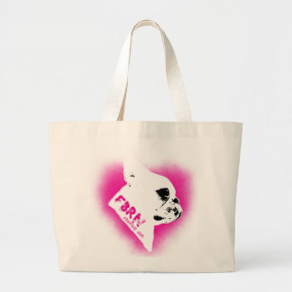 For the Love of Frenchies - Rescue Me Large Tote Bag