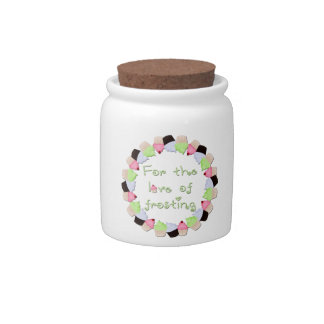 For The Love of Frosting Candy Jars