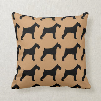 For the Love of Giant Schnauzers Throw Pillows