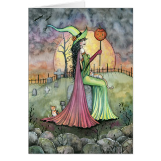 For the Love of Halloween Witch Card
